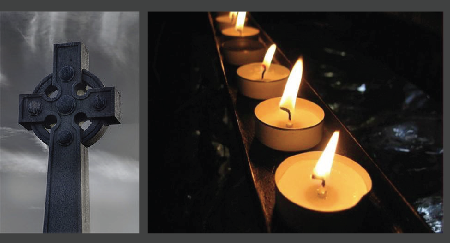 Candle and the Cross